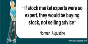 investing quote norman augustine market experts